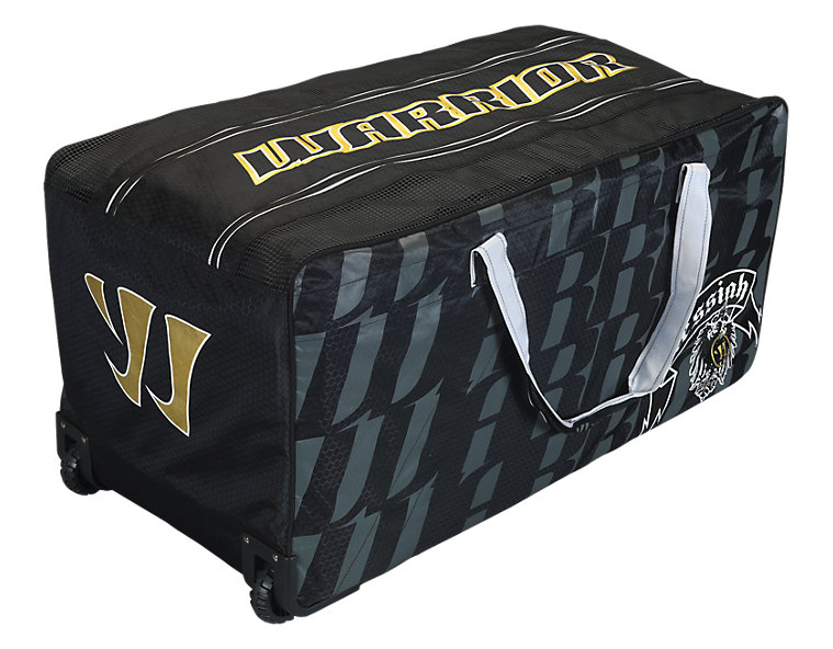 Messiah Goalie Wheel Bag, Black with White