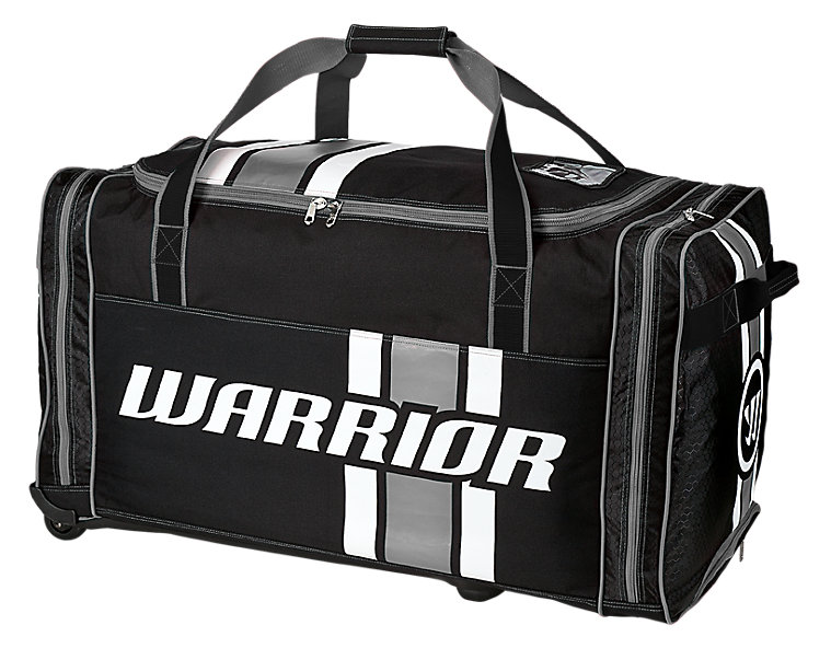 Covert Goalie Roller Bag, Black with White & Grey