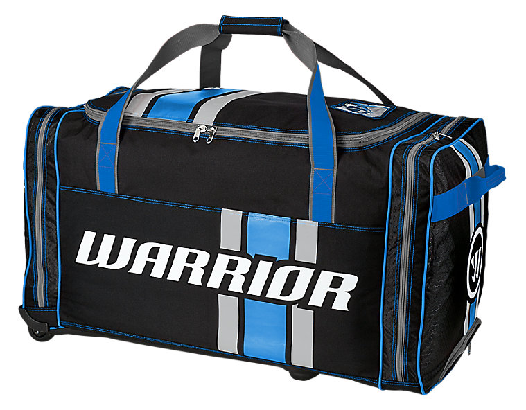 Covert Junior Roller Bag, Black with Blue & Silver
