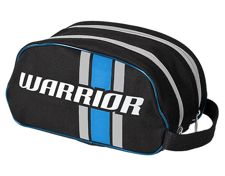 Covert Shower Bag, Black with Blue & Silver