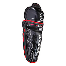 Dynasty HD1 Intermediate Shin Guard , Black with Red & White