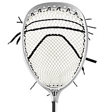 Eraser -Strung Hard Mesh, White with Black