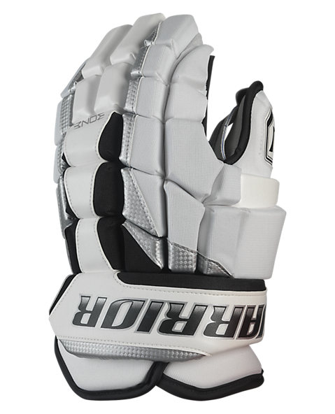 Luxe Glove, White with Silver & Black