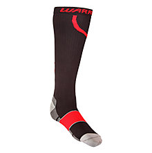 Comp Pro Hockey Sock, Black with Red