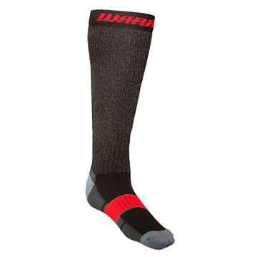 Cut Proof Sock, Black with Red