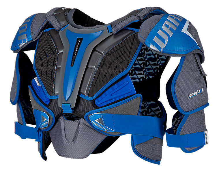 Projekt Shoulder Pad, Black with Blue & Silver