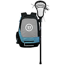 Jet Pack Large Backpack, Black with Grey & Blue