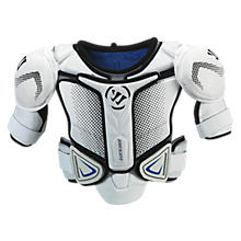 Koncept Shoulder Pad, White with Black & Blue