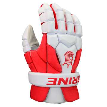 King Superlight III Gloves, Red with White