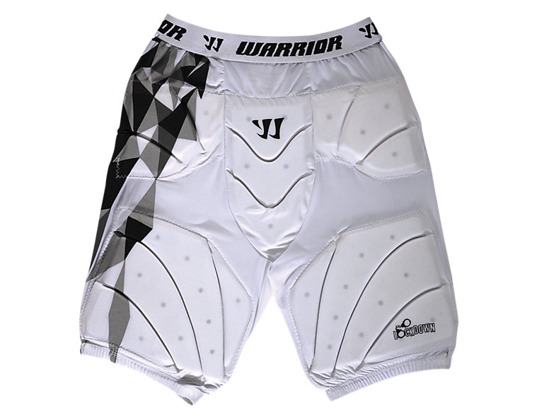 Lockdown Goalie Leg Pad, White with Black & Grey