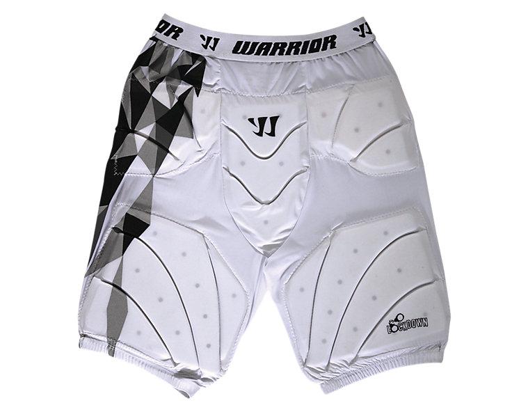 Lockdown Goalie Leg Pad, White with Black & Grey