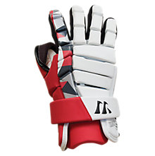 Lockdown Goalie Glove, Red with White