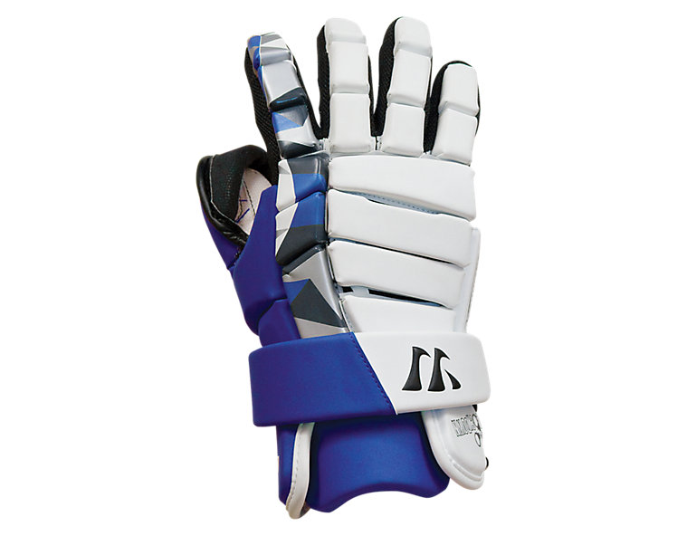 Lockdown Goalie Glove, Royal Blue with White