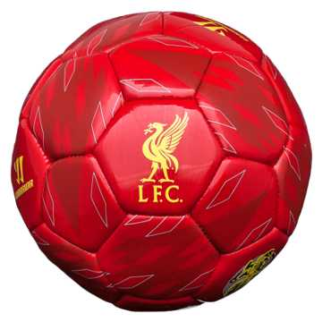 Liverpool Kop Mini Ball 2013/14, High Risk Red with Amber Yellow