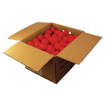Softball Indoor Case Balls, Red