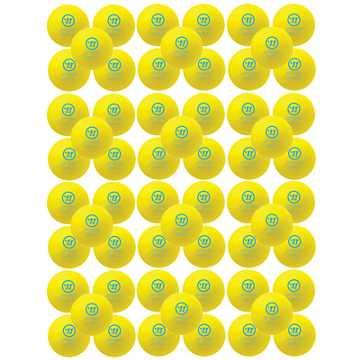Mini Hockey Ball 60pk, Yellow