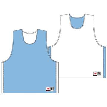 Men's Elite Pinnie, Carolina Blue with White