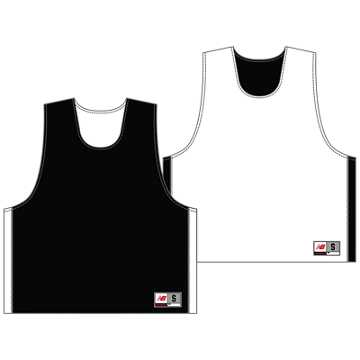 Youth Elite Pinnie, Black with White