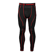 Nutt Hutt Compression Pant - YTH, Black with Red