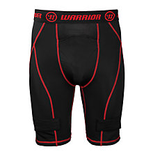 Nutt Hutt Compression Short - YTH, Black with Red