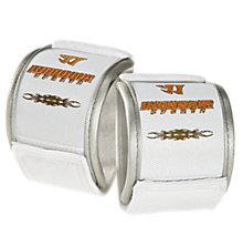 Padded Wrist Guard, White with Orange