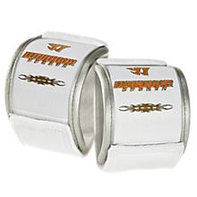 Padded Wrist Guard, White with Orange