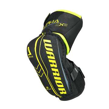 Alpha QX3 JR Elbow Pads, Black with Yellow & Grey