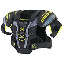 Alpha QX3 JR Shoulder Pads, Black with Yellow & Grey