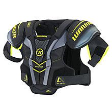 Alpha QX3 SR Shoulder Pads, Black with Yellow & Grey