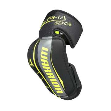 Alpha QX4 JR Elbow Pads, Black with Yellow & Grey