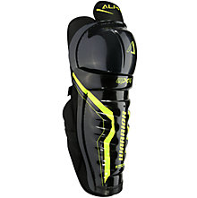 Alpha QX4 JR Shin Guards, Black with Yellow