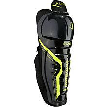 Alpha QX4 JR Shin Guards, Black with Yellow