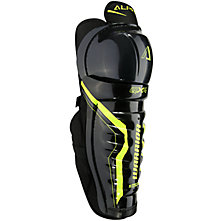 Alpha QX4 SR Shin Guards, Black with Yellow
