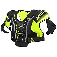 Alpha QX4 JR Shoulder Pads, Black with Yellow & Grey
