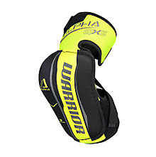 Alpha QX5 JR Elbow Pads, Black with Yellow & Grey