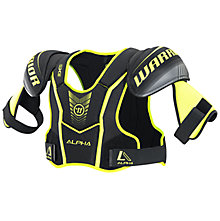 Alpha QX5 JR Shoulder Pads, Black with Yellow & Grey