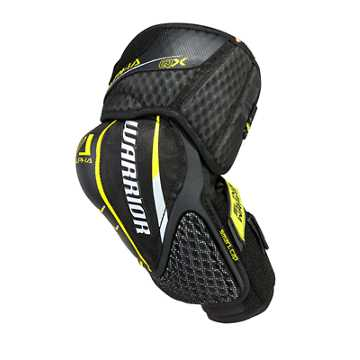 Alpha QX JR Elbow Pads, Black with Yellow