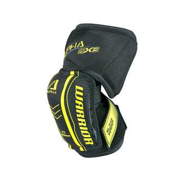 Alpha QX YTH Elbow Pad, Black with Yellow