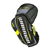 Alpha QX Pro JR Elbow Pads, Black with Yellow & Grey