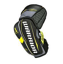 Alpha QX Pro SR Elbow Pads, Black with Yellow & Grey