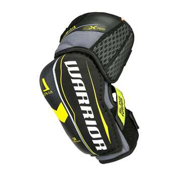 Alpha QX Pro SR Elbow Pads, Black with Yellow & Grey