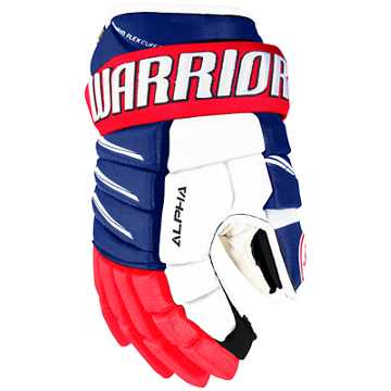 Alpha QX Pro JR Glove, Royal Blue with Red & White