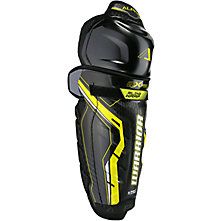 Alpha QX Pro SR Shin Guards, Black with Yellow & Grey