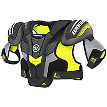 Alpha QX Pro SR Shoulder Pads, Black with Yellow & Grey