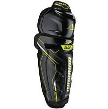 Alpha QX SR Shin Guards, Black with Yellow