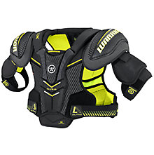 Alpha QX SR Shoulder Pads, Black with Yellow
