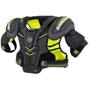 Alpha QX SR Shoulder Pads, Black with Yellow