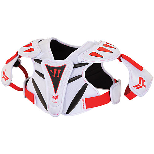Rabil Next Shoulder Pad, White with Red & Blue