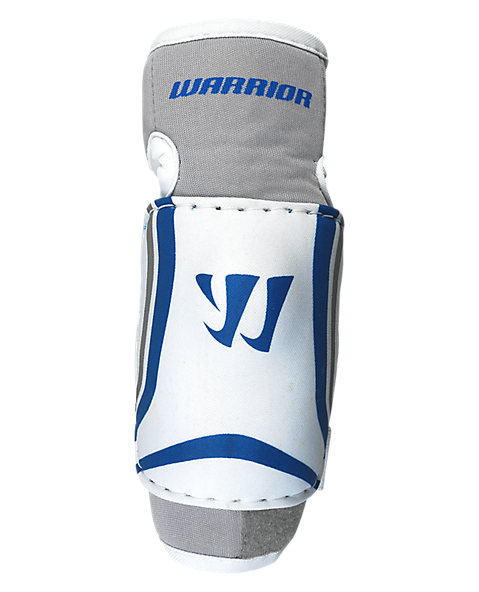 Ruckus Elbow Pad, White with Grey & Blue