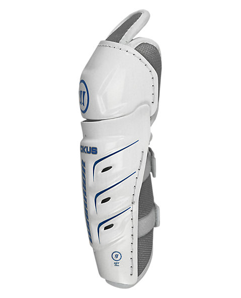 Ruckus Shin Guard, Grey with White & Blue